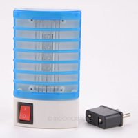 Wholesale 220V EU Plug Mini Mosquito Lamp LED Mosquito Repeller Socket Electric Mosquito killing Fly Bug Insect Trap Night Lamp MPJ400