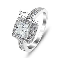 agent engagement rings - Korean jewelry genuine sterling silver rings bridal jewelry CZ Ring free agent RI101158