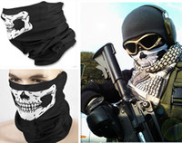 Wholesale Multi Function Skull Face Mask Outdoor Sports Ski Bike Motorcycle Scarves Bandana CS Neck Snood halloween Party Cosplay Full Face Masks