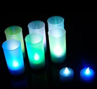 Wholesale 515 colour acoustic candle night light voice control candle night light