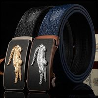 Wholesale 2016 New genuine Leather crocodile grain business mens belts luxury Designer brand Belts For Men High quality Jeans pants belts