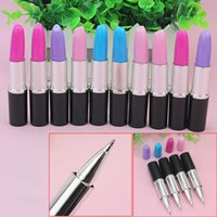 Wholesale Creative Novelty Stationery Ballpoint Pen Scalable Simulation Modeling Lipstick Pens Stationery School Office Writing Ballpen FG17189