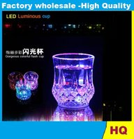 Wholesale Bar special induction luminous pineapple cup Yang small glass colorful color glass cup creative cup