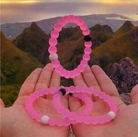 jewelry stainless steel findings - Lokai bracelet Clear Blue Pink Camouflage mud Water white and black Beads Silicone Bracelets Find Your Balance Gift Jewelry with tag