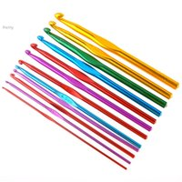 crochet hooks - different size multicolour Aluminum Crochet Hooks Knitting Needles Sets mm