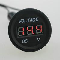 Wholesale 1 LED Display Car Digital Voltmeter Voltimetro Electric Voltage Meter Monitor Socket for Automobile Motorcycle Truck