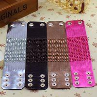 Wholesale Bracelets For Women Neon PU Leather Crystal Bracelets amp Bangles Colors Available Bijouterie Bracelet