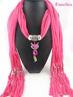 Wholesale Scarves Korea - Wholesale-Original design Red-billed fox pendant scarf Japan and South Korea sweet style Ms. tassel jewelry colored scarves