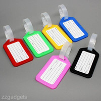 Wholesale 5pcs Luggage Tags Labels Name Address ID for Suitcase Bag Baggage Travel School