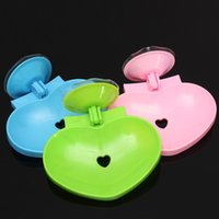 best color for bathroom walls - Best Price Best Promotion Heart Shape Bathroom Soap Holder Soapbox Soap Dispenser Sucker Fit For Bathroom Supply Color Randomly