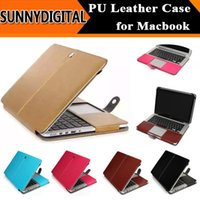 Wholesale High Quality PU Leather Laptop Case Business Style Folio Sleeve Bag for Apple Macbook Inch Air Pro Retina