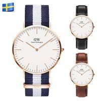 mens luxury watch quartz - 2016 Hot Selling Top Brand Luxury Style DW Watch Daniel Wellington Watches For Mens And Women Nylon Strap Quartz Wristwatch Without Box