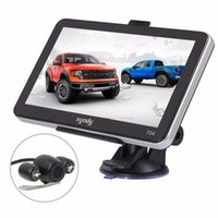 av online - Best car GPS Navigation Truck Online Bluetooth AV IN Sat Nav wireless Rear View Camera GPS Camion Mini Car Navigation Free Map