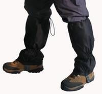 Wholesale 1 Pair Black anti tearing strong Waterproof Outdoor Hiking trekking Climbing Hunting Snow Gaiters Legging M545