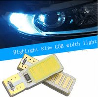 Wholesale 20piece t10 COB smd W led light bulbs reading light bulbs for auto bright clearance light seven colors