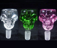 ashes pc - 50 Skull design mm mm Glass Bowl Smoking pipe bong mm Thick For Mini Oil Rig Percolators Bubbler ash catcher