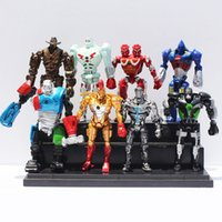 wholesale action figures - 8pcs set Real Steel PVC Action Figure cm Collection Model Toys Classic Toys Christmas Gift