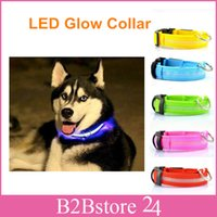 Wholesale Pet Dog LED Collar Glow Cat Collars Flashing Nylon Light Up Collar TOYS0569