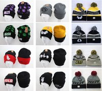 Wholesale Men and Women Knitted Hats Harajuku Leaves Caps Winter Outdoor Skiing Caps Sport Baseball Beanies Street Hip Hop Caps Styles can Mixed