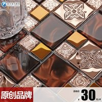 Wholesale Platinum Amalfi Blending TV wall mosaic glass crystal mirror tiles affixed B150615