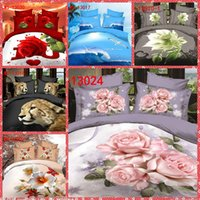 Wholesale Cheap Online Home Texiles d Floral Printing Bedding Sets Queen Size Bedclothes Duvet Quilt Cover Sheet Bed Spreads Polyester Top One