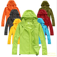 Cheap New Best Selling Women Men Ultra-light Outdoor Sport Waterproof Jacket Quick-dry Clothes Skinsuit Outwear Plus Size XS-XXXL