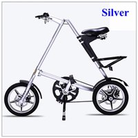 Strida Folding Bike strida da 16 pollici in lega di alluminio Folding Bike nero / bianco / oro del nastro / Red Road Biciclette pieghevoli