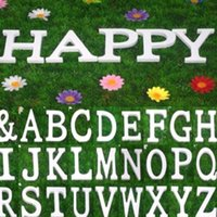Wholesale White Wooden Pieces Freestanding Letters Alphabet Wedding Name Shop Decorations Xmas DIY