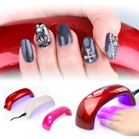 Wholesale Free DHL w Cute Nail Art Gel Polish Lamp Led UV Light Dryer Nail Finger Dry Fashionable
