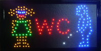 Wholesale Hot selling customerized Animated Led man and woman washroom sign board size x10 quot Led Neon WC sign