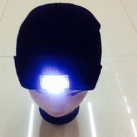 LED de invierno sombrero de punto LED de luz brillante Campamento cálido Gorros calavera escalada linterna de noche al aire libre Sombreros de punto de gorro de fábrica Precio de fábrica 2017