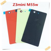 Wholesale New Glass Back Cover Battery Door Housing Glass For Sony for Xperia Z1 L39h Z1 mini Z2 Z3 L55t Z3 Compact Z3 mini With Sticker