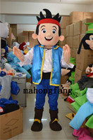 Wholesale New Jake Mascot Costume Cartoon clothing Jake and the Neverland blue Funny Adult size fancy dress party factory direct