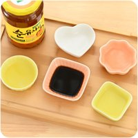Wholesale pieces Japan Style Seasoning Dish Small Ceramic Sushi Dishes Style Optional Heart Plum blossom Square Round Ten Corner