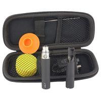 Single vapes - vapes dual coil titanium wick wax skillet vaporizer with plastic drip tip starter kit