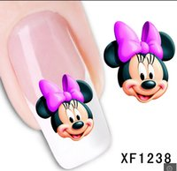 art hot transfer - D XFXF1238 Hot Sale Water Transfer Nail Art Stickers Decal Elegant Light Blue Peony Flowers Design French Manicure Tools
