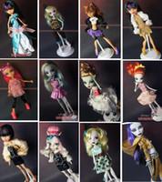 Unisex baby doll clothes lot - 12 clothes dress for Genuine Original Monster High dolls Original Monster High clothing doll s dress NEW A2