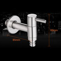Wholesale High Qulity Laundry Faucets Stainless Steel Lead free Cold Water Faucets Brushed Bathroom Laundry Tap Faucets