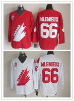 olympic hockey jerseys - New Olympic Team Canada Mario Lemieux Hockey Jersey Captain Red White Premier Stitched Mens Vintage Throwback Jerseys