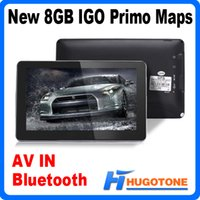 Wholesale 5 inch Car GPS Navigator Bluetooth AV IN FM RAM128MB CPU MHZ Build in GB IGO Primo Maps