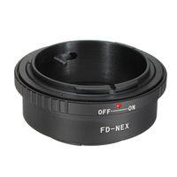 Wholesale Black Camera Len Adapter Ring For Canon FD Lens to for Sony E Mount NEX3 NEX5 NEX7 NEX VG10 NEX N NEXC3 Professional