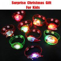 Wholesale New Arrivals Christmas Bracelet Watch Shapes Lights Flashing Color Christmas Gift For Children Novelty Lighting Festival Decoration Free DHL