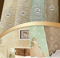 architectural styles - European Architectural Style Living Room TV D Wallpaper Stereoscopic Flocking Reliefs d wall paper Damask Printing Wallpaper