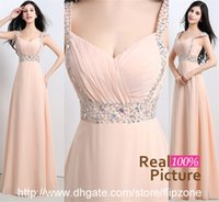 Cheap 2015 A-Line In Stock Prom Dresses Sweetheart Chiffon Sequins Beads Long Wedding Evening Dress Party Formal Ball Gowns 16112 Real Image Cheap