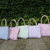 beach bag cotton rope - Cotton Seersucker Rope HandleTote Bag With Mag Snap Closure Large Diaper Bag Carry all Bag Shipping Via FedEx DOM106034