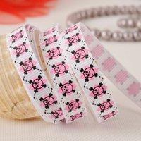 Wholesale 9MM Skull printed ribbon holiday ribbon party ribbons DIY ribbons Hair Ribbon