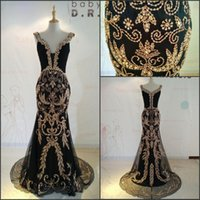 Wholesale 100 Real Image Gorgeous Evening Dresses Luxury Handmade Crystal Beading Evening Gowns Mermaid Formal Prom Dresses Pageant Gowns