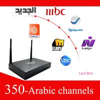 Included arabic tv internet box - 2014 hottest loolbox over free tv channels arabic channels HD internet wifi digital arabic iptv box