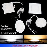 Wholesale led ceiling panel lights round Led Panel Light SMD W W AC V Led Ceiling Recessed down light Led downlight driver