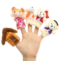 Wholesale Family Finger Puppets Cloth Hand Plush Cartoon Doll Goldilocks House Fairy Tale Baby Educational Toy Three Bears
